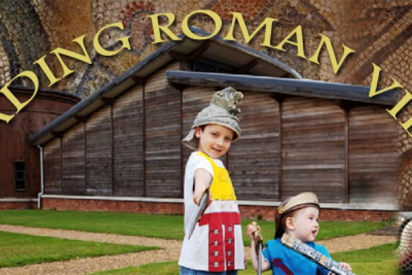 Childrens fun and games at Brading Roman Villa