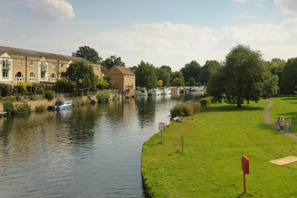 The Riverside Park in St Neots with family on their day out