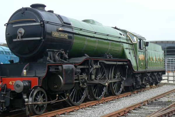 One of the great steam locomotives at Shildon