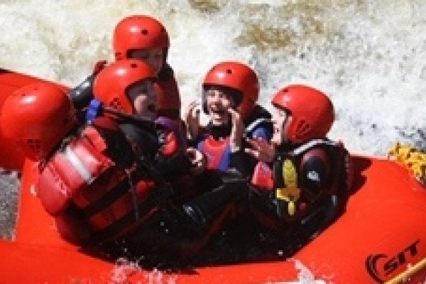 White water fun in Wales